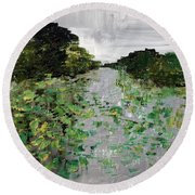 Silver Lake Norfolk Botanical Garden 2018-17 Round Beach Towel