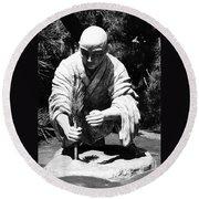 Silver-monk Round Beach Towel