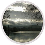 Silver River Round Beach Towel
