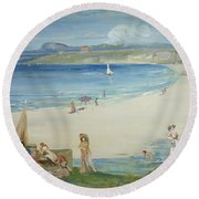 Silver Sands Round Beach Towel