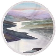 Silver Stream Round Beach Towel