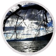 Silver Sunset Round Beach Towel