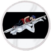Silver Surfer Round Beach Towel