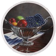 Silvered Fruit Round Beach Towel