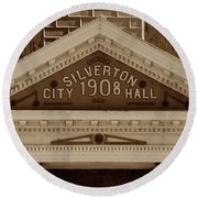 Silverton City Hall 1908 Round Beach Towel
