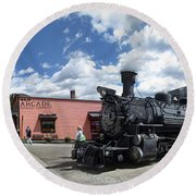 Silverton Durango Steam Train - Silverton Colorado Round Beach Towel