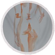 Simple Nude Round Beach Towel