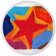 Simple Star Round Beach Towel