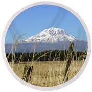 Mount Adams Round Beach Towel