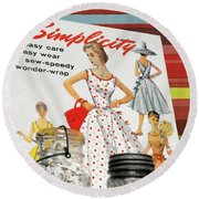 Simplicity Vintage Sewing Pattern - Color Round Beach Towel