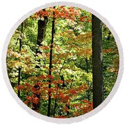 Simply Autumn Round Beach Towel