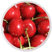 Simply Cherries  Round Beach Towel