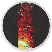 Simply Glorious 1 By Madart Round Beach Towel by Megan Duncanson