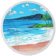 Simply Maui 18 X 24 Round Beach Towel