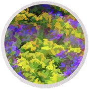 Simply Soft Colorful Garden Round Beach Towel