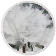 Simply Soft Essence Of Winter Round Beach Towel