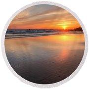 Simply Sunset Round Beach Towel