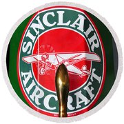 Sinclair Aircraft Pump Round Beach Towel