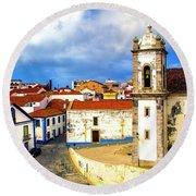 Sines Portugal Round Beach Towel