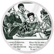 Sing A Song Of Sixpence Nursery Rhyme Round Beach Towel
