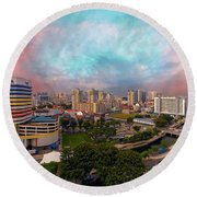 Singapore Rochor Commercial And Residential Mixed Area Round Beach Towel