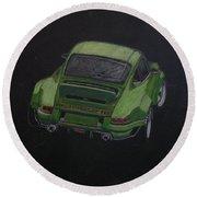 Singer Porsche 2 Round Beach Towel by Richard Le Page