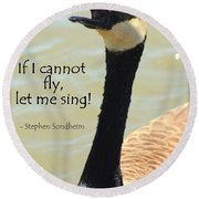 Singing Goose Round Beach Towel