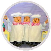 Singing Tenorloins Round Beach Towel