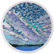 Singleton Altocumulus Morning Round Beach Towel