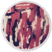 Sins Of The Father Round Beach Towel