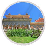 Sintra In Portugal Round Beach Towel