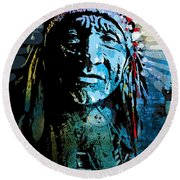Sioux Chief Round Beach Towel
