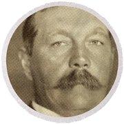 Sir Arthur Conan Doyle, 1859 -1930 Round Beach Towel