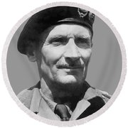 Sir Bernard Law Montgomery  Round Beach Towel