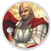 Sir Gawain Round Beach Towel