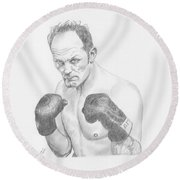 Sir Henry Cooper Obe Round Beach Towel