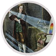 Sir Isaac Newton Round Beach Towel