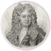 Sir John Vanbrugh, 1664 To 1726 Round Beach Towel
