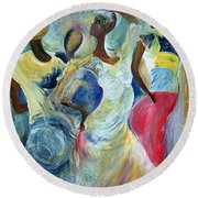 Sister Act Round Beach Towel by Ikahl Beckford