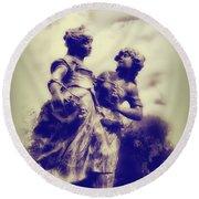 Sisters - Ink  Round Beach Towel