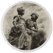 Sisters Round Beach Towel by Bill Cannon