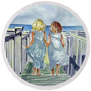 Sisters Round Beach Towel