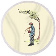 The Site Visitor Round Beach Towel