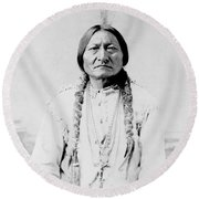 Sitting Bull, A Hunkpapa Lakota Tribal Round Beach Towel