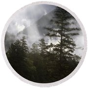 Siuslaw National Forest Round Beach Towel