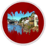 Gorgeous Siuslaw Riverfront Round Beach Towel