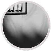 Six Men And A Woman Round Beach Towel
