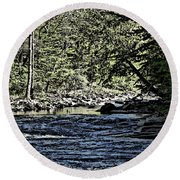 Six Mile Creek Ithaca Ny Round Beach Towel