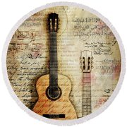 Six String Sages Round Beach Towel