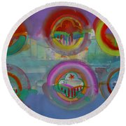 Six Visions Of Heaven Round Beach Towel